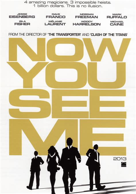 see me now you see me synopsis and promo poster collider