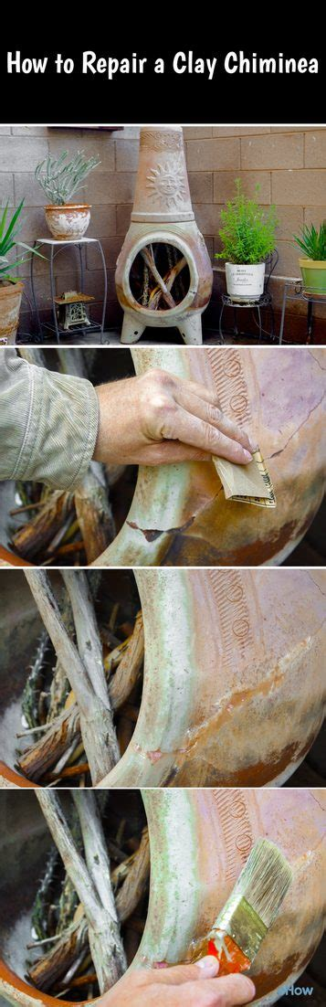 how to repair a clay chiminea chiminea clay and backyard