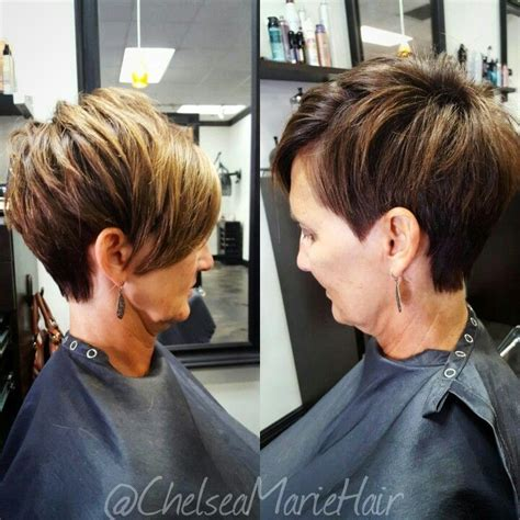 asymmetrical pieced pixie haircuts asymmetrical pixie cut with mocha and hilites by chelsea