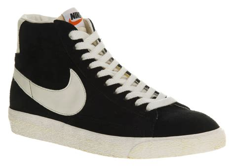 nike blazer hi suede vintage black white exclusive trainer