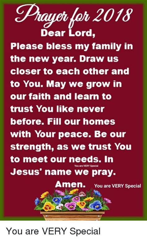 new year other name dear lord bless my family in the new year draw us