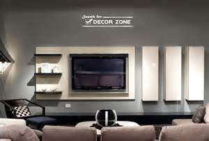 Modern tv wall units with vertical and horizontal shelves