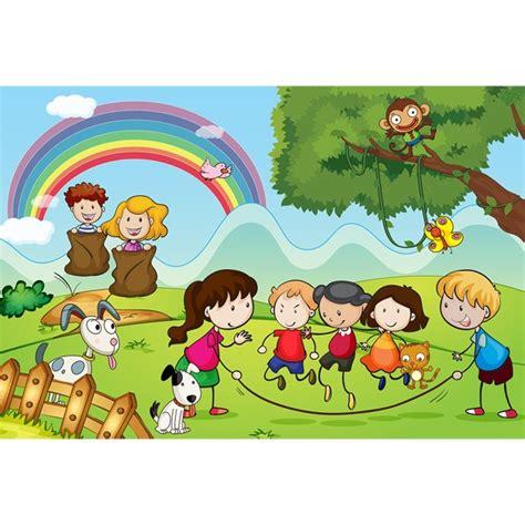 imagenes de niños jugando y leyendo fotomural infantil ni 241 os jugando en el co