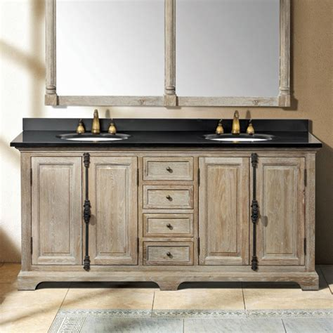weathered bathroom vanity sink console weathered oak homes decoration tips