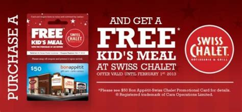 Kelseys Gift Card - canadian deals free kid s meal wub 50 swiss chalet gift card canadian freebies