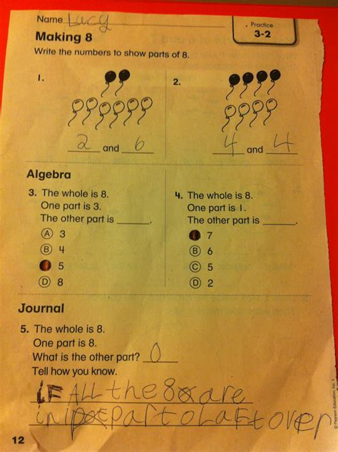 Envision Math 3rd Grade Worksheets by Envision Math 5th Grade Topic 8 Test Envision Math Grade