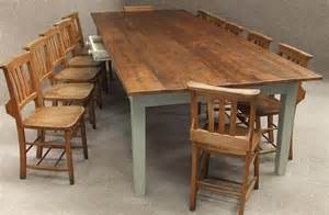 Large Kitchen Tables And Chairs Large Pine Kitchen Table To Seat Up To 12