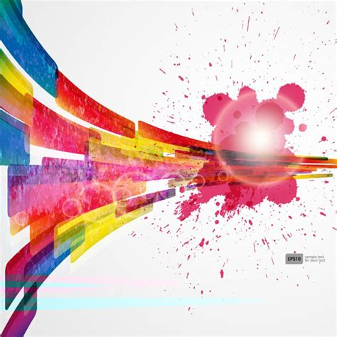 colorful objects wallpaper colorful object splash backgrounds vector 03 vector