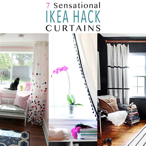 ikea panel curtain hack 7 sensational curtain ikea hacks the cottage market