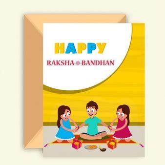 raksha bandhan card template siblings vectors photos and psd files free