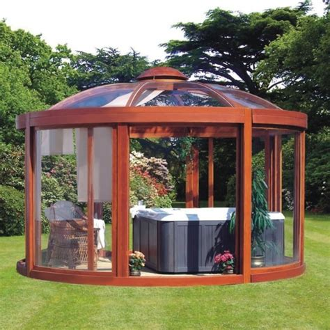 Enclosed Gazebo Kits Making The Perfect Summerhouse   Pergola and Gazebo Ideas