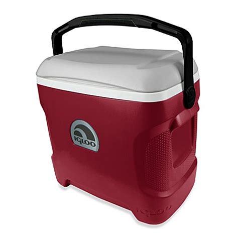 igloo 30 quart cooler igloo 174 contour 30 quart cooler in red grey black bed