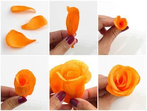 How To Make A Flower Out Of Paper Easy - 20 diy crepe paper flowers with tutorials guide patterns