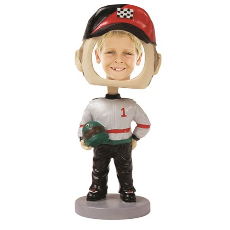 bobblehead yourself bobbleheads race car driver sports photos novelty picture