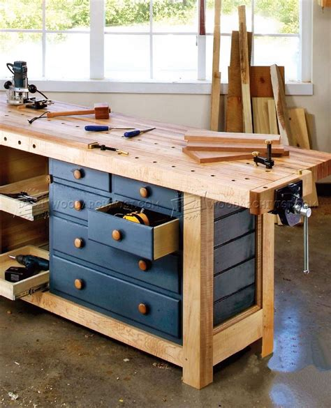 shaker workbench plans woodarchivist