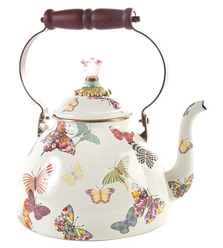 Enamel Butterfly Necklace By Miss Selfridge by Mackenzie Childs Butterfly Garden Enamel Tea Kettle 3qt