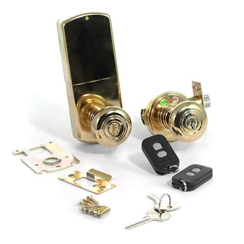 Wireless Door Knob wireless door lock remote controlled rf door knob brass