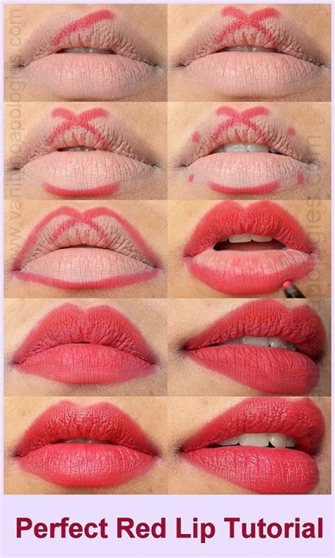 tutorial make up lipstik tutorial how to apply red lipstick perfectly steps