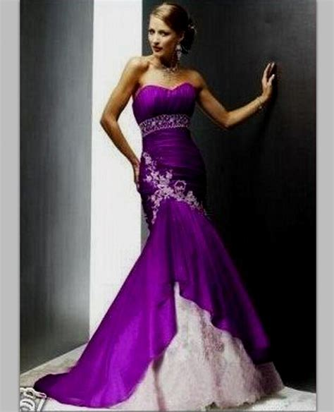 White Purple Dress purple and white wedding dresses dress yp