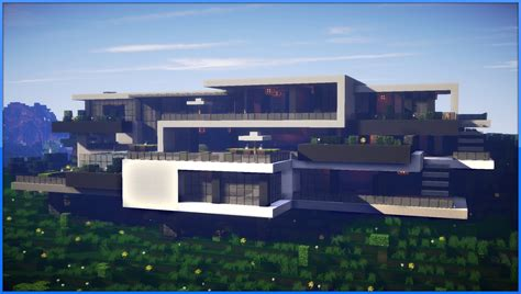 modern mansion minecraft epic modern mansion 60fps youtube