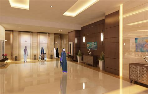 design concept sharjah mamzer tower lobby interior design design and built