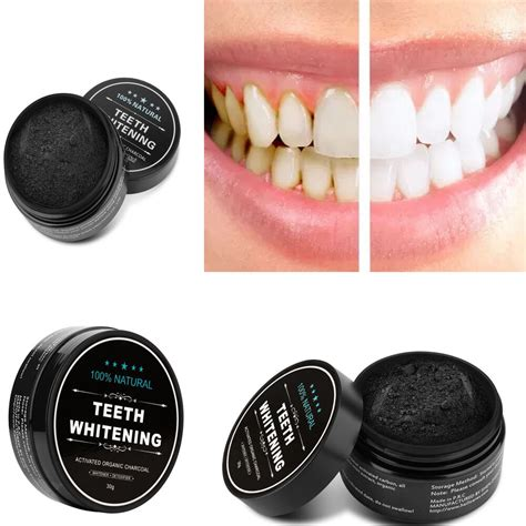 activated organic charcoal teeth whitening powder
