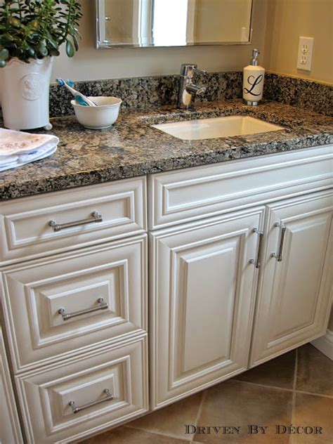 off white cabinets with black hardware house tour girls bathroom driven by decor