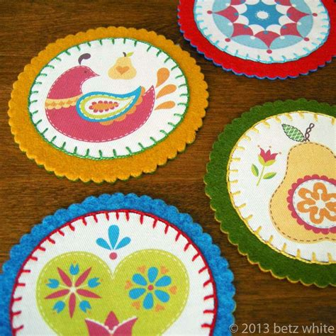 make coasters felt and fabric coaster tutorial betz white