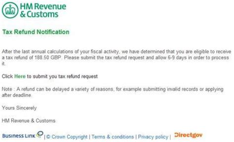 Tax Credit Letter Overpayment Tax Refund Hmrc Email Re Tax Refund