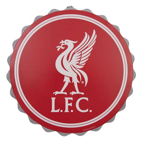 liverpool fc lfc red liverbird bottle cap wall sign nwt