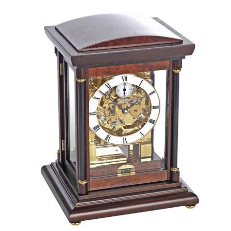 Clock Table by Billib Bradley Walnut Finish Mantel Table Clock