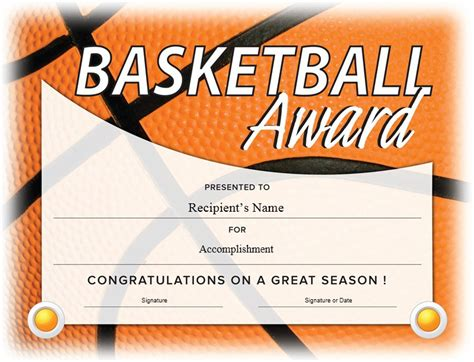 basketball c certificate template 13 free sle basketball certificate templates