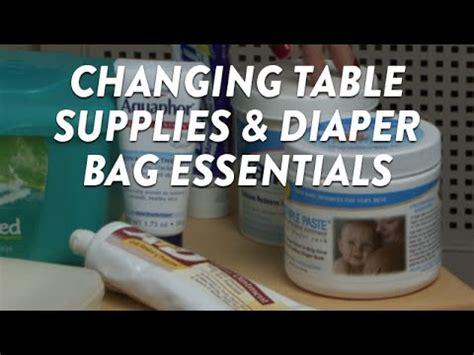 Changing Table Supplies Changing Table Supplies And Bag Essentials Cloudmom