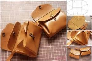 how to diy leather purse