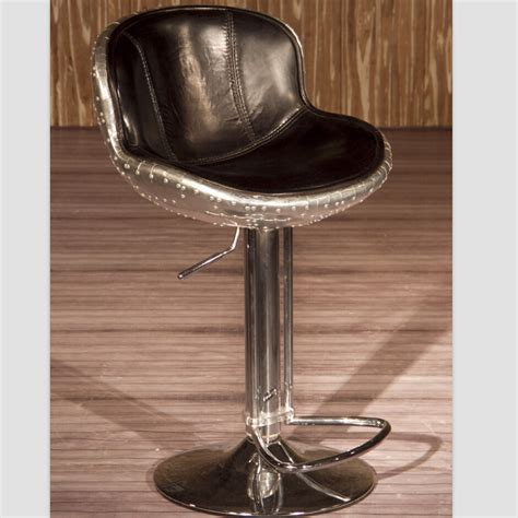 Real Leather Bar Stools vintage aviation genuine leather bar stool buy genuine leather bar stool aviation bar stool