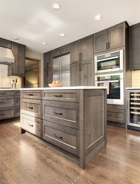 Best Wood Stain For Kitchen Cabinets | grey stained oak kitchen cabinets nrtradiant com