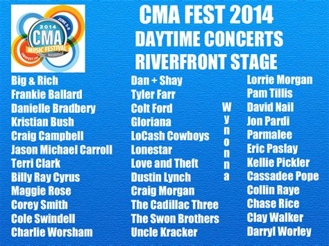country music festival jacksonville 2014 lineup cma music festival may 2014