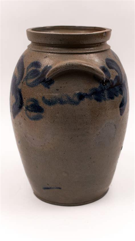 Top 28 Antique Jars Large Antique American Stoneware Baltimore Antique Cobalt Decorated Salt Glazed Stoneware Crock