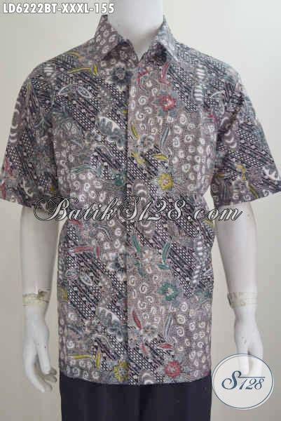produk baju batik jumbo hem batik 4l model lengan pendek proses kombinasi tulis kwalitas