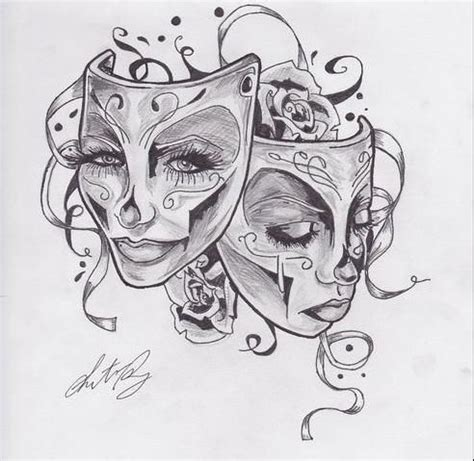 theater mask tattoo designs gemini happy and sad search