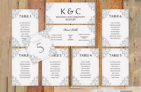 Wedding Seating Chart Template Free Premium Templates Table List Wedding Template