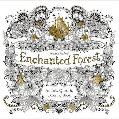 basford s enchanted forest an inky quest coloring book scrapbook generation