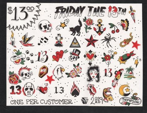 friday the 13th designs tats 13