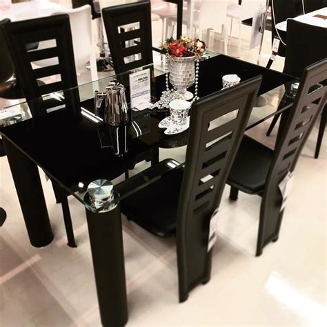 modern black glass dining table modern glass dining table buungi