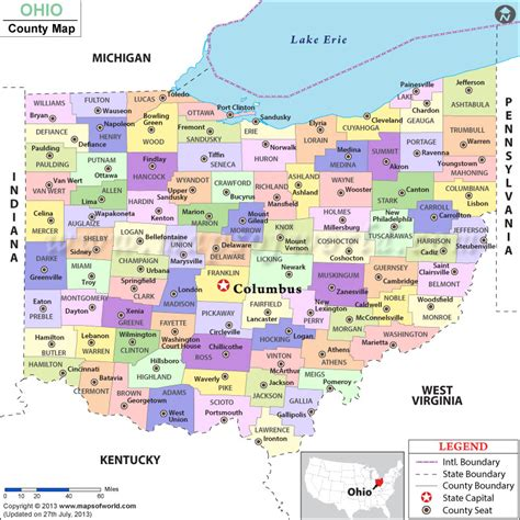 zip code map ohio  travel information