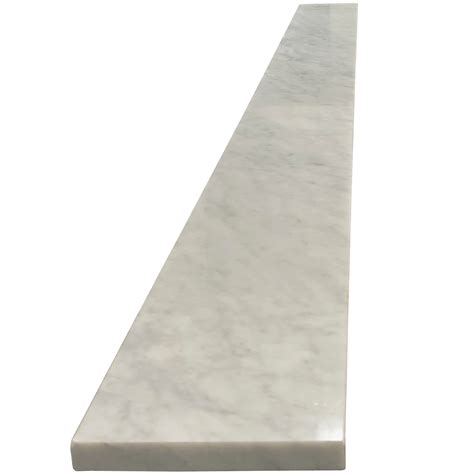 6 x 36 threshold saddle carrara tile