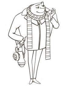 Gru Coloring Page minion and gru coloring pages