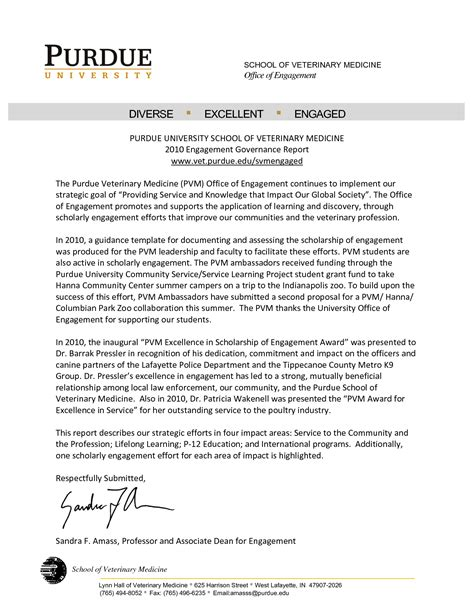 Recommendation Letter Purdue Purdue Owl Letter Format Best Template Collection