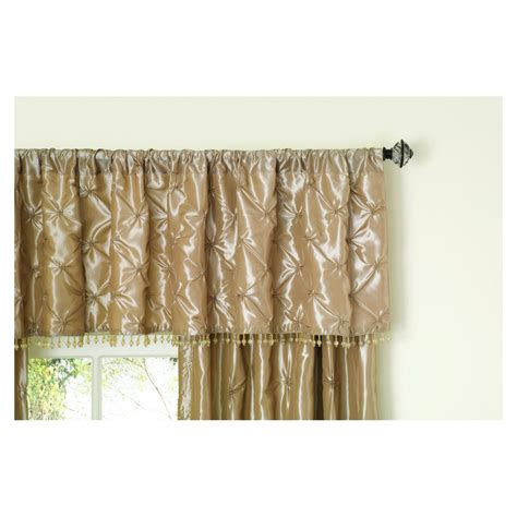 lowes curtains and valances shop allen roth 20 in l sand belleville tailored valance