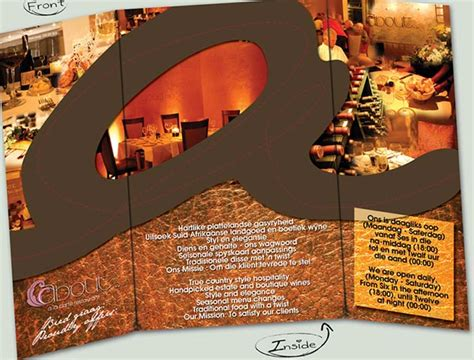 sle restaurant brochure 20 cooltastic brochure designs for inspiration